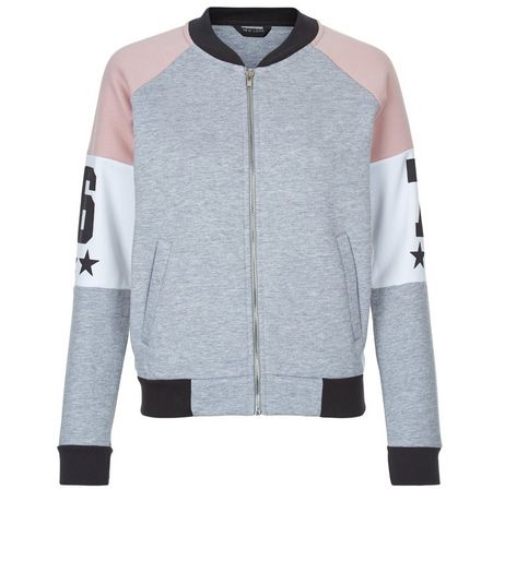 Teens Grey Colour Block Zip Up Hoodie | New Look