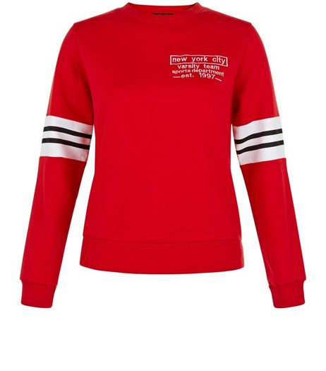 Teens Red New York City Sweater  | New Look
