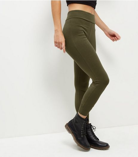 Khaki High Waisted Leggings | New Look