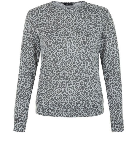 Teens Grey Animal Print Top | New Look