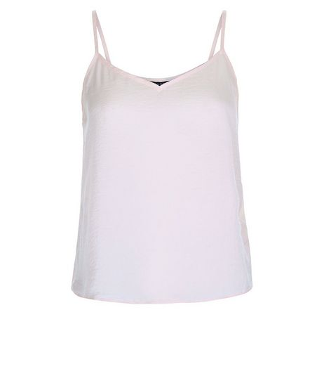 Teens Shell Pink Satin Cami  | New Look