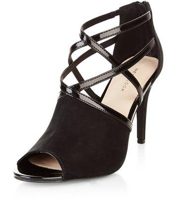 Sandalo  donna Black Comfort Strappy Heeled Boots