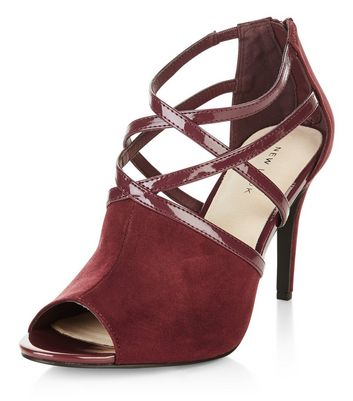 Sandalo  donna Dark Red Comfort Strappy Heeled Boots
