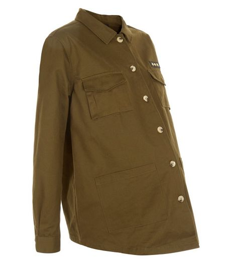Maternity Khaki Double Pocket Jacket | New Look