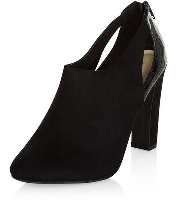 Sandalo  donna Black Comfort Suedette Cut Out Shoe Boots