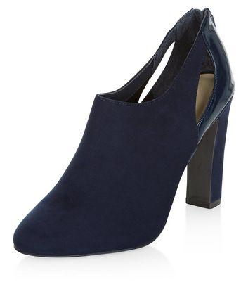 Sandalo  donna Navy Comfort Suedette Cut Out Shoe Boots
