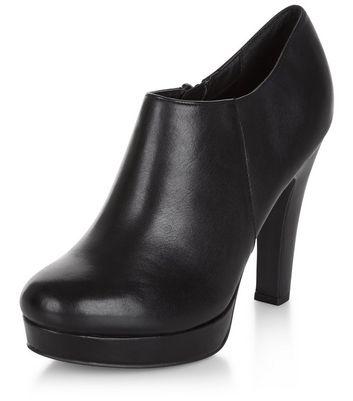 Black Comfort Leather Shoe Boots