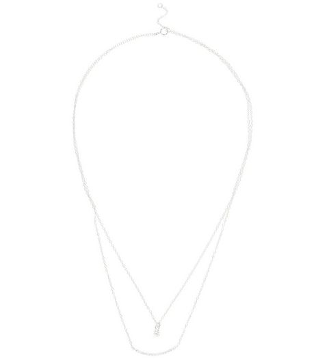 Sterling Silver Layered Necklace | New Look