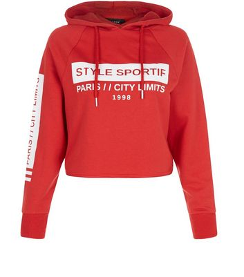 petite-red-style-sportif-cropped-hoodie