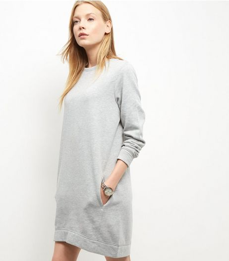 Grey Long Sleeve Longline Sweater  | New Look