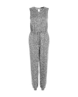 Grey Fine Knit Sleeveless Jumpsuit | New Look