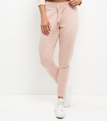 Shell Pink Quilted Joggers