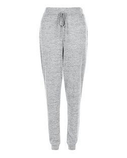 Pale Grey Fine Knit Joggers | New Look
