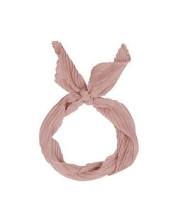 Pink Pleated Bandana Neckscarf | New Look