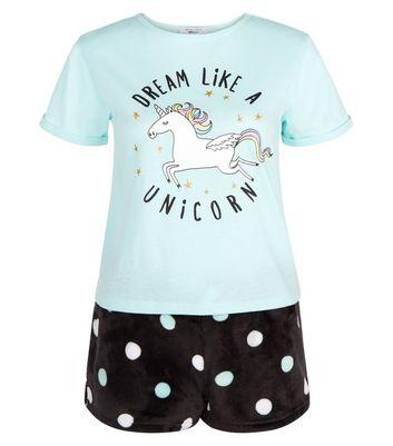 teens-mint-green-dream-like-a-unicorn-pyjama-set