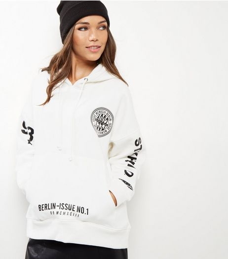 White City Print Hoodie | New Look
