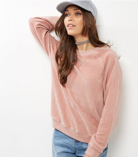 Shell Pink Rib Sweater | New Look