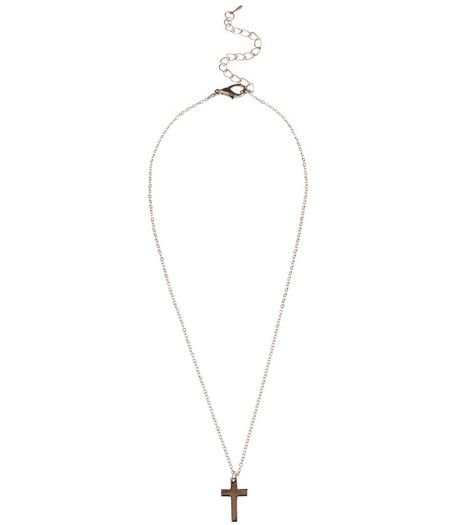 Silver Cross Pendant Necklace | New Look