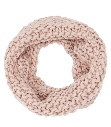 Pink Knitted Snood | New Look