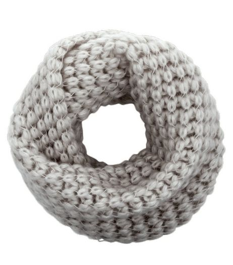 Light Grey Knitted Snood | New Look