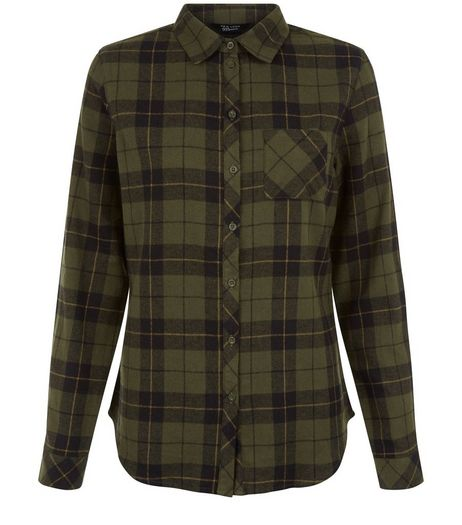 Teens Khaki Check Shirt | New Look