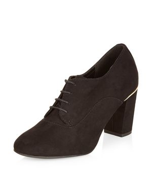 New Look Suedette Lace Up Shoe Boots