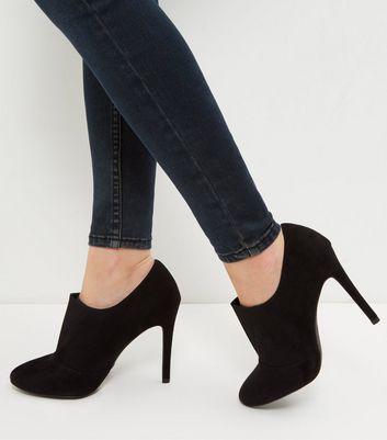 Black Suedette Shoe Boots