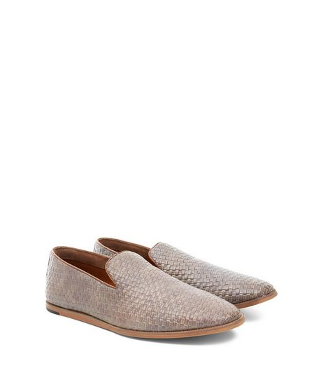 Tan Woven Slip On Loafers | New Look