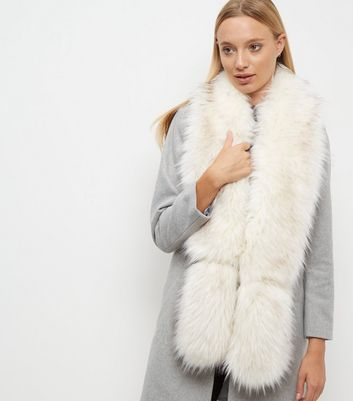 white-faux-fur-stole