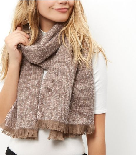 Pink Boucle Textured Scarf  | New Look
