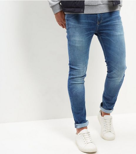 Blue Washed HyperFlex Skinny Jeans | New Look