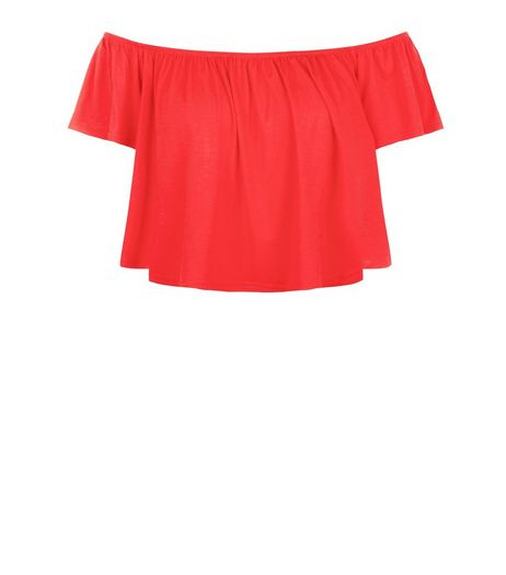 Blue Vanilla Red Bardot Neck Top | New Look