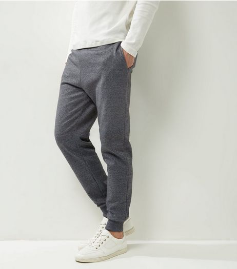 Light Grey Marl Cuffed Joggers | New Look