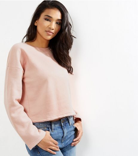 Shell Pink Wide Sleeve Sweater  | New Look
