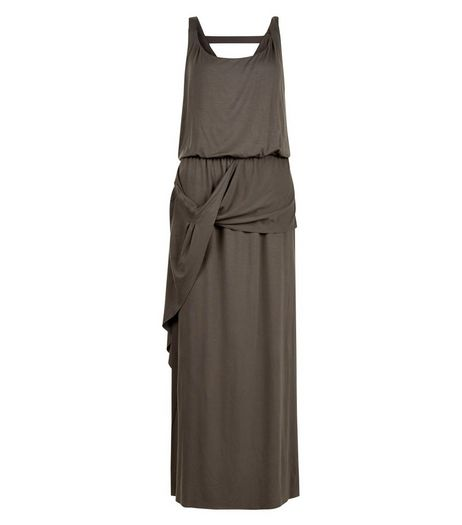 Apricot Khaki Drape Maxi Dress | New Look