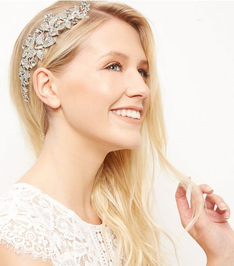 Crystal Leaf Hair Slide | New Look