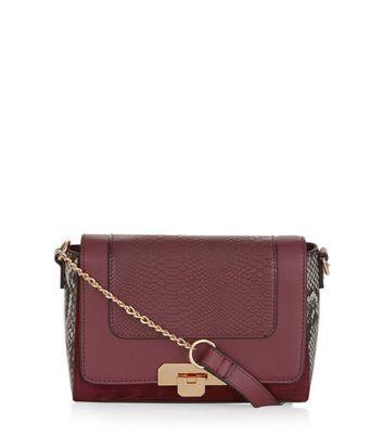 burgundy-snakeskin-print-panel-across-body-bag