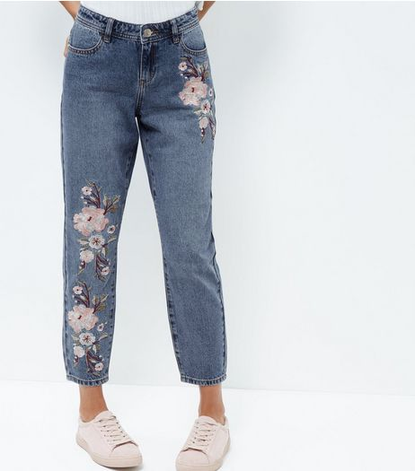 Anita and Green Blue Embroidered Straight Leg Jeans | New Look