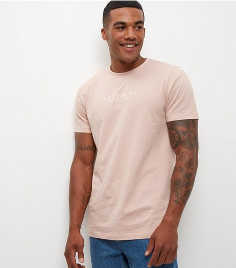 Pink Austin Embroidered T-Shirt  | New Look