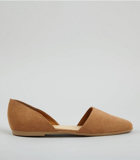 Tan Cut Out Pumps | New Look