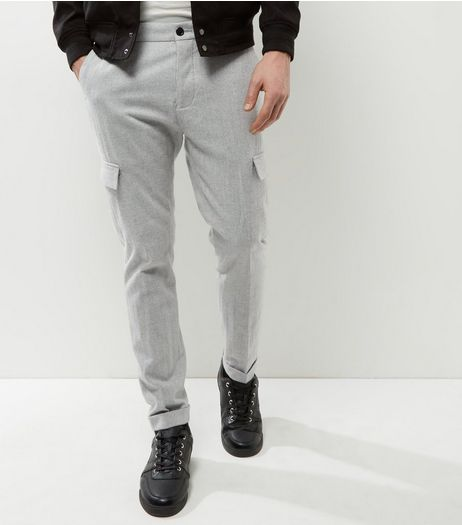 Light Grey Cargo Trousers | New Look