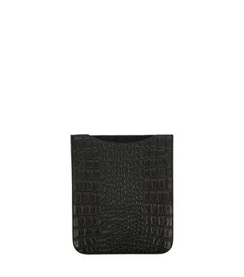 Photo of Black croc texture ipad sleeve