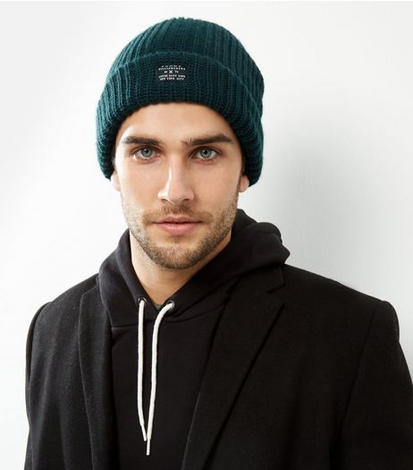 Dark Green Ribbed Beanie Hat | New Look
