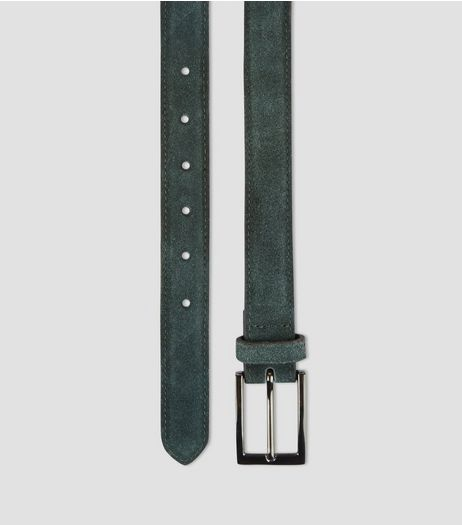 Dark Green Suede Belt | New Look