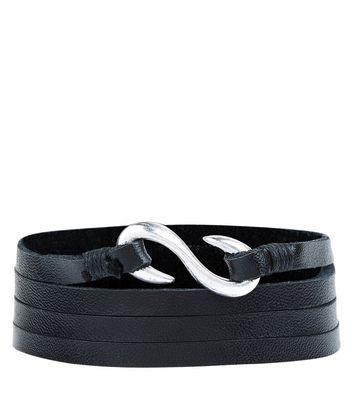 black-leather-wrap-around-bracelet