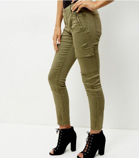 Khaki Cargo Trousers  | New Look