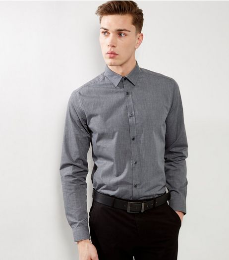 Light Grey Cross Dye Long Sleeve Shirt | New Look