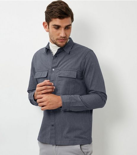 Blue Long Sleeve Shacket | New Look