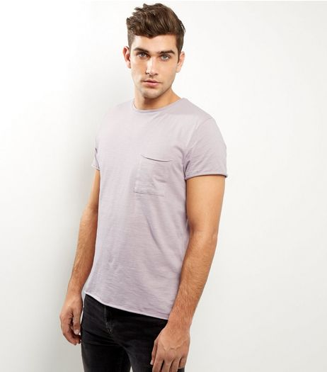 Pink Washed Pocket Front T-shirt | New Look