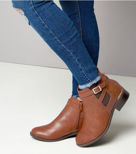 Teens Tan Leather-Look Chelsea Boots | New Look